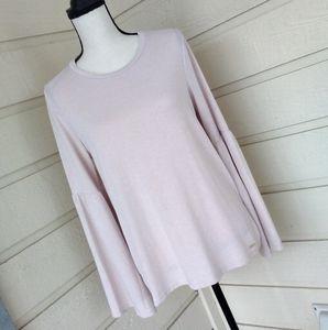 CALVIN KLEIN light pink bell sleeve top